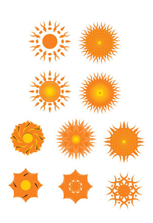 Sun Vector Icon Facebook