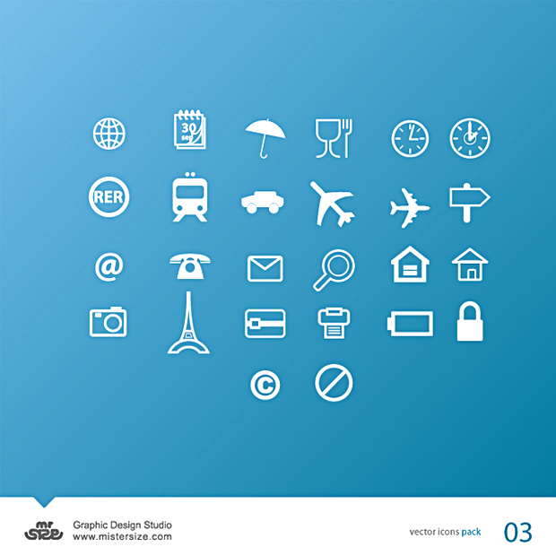 Transport and Travel Vector Icons Facebook
