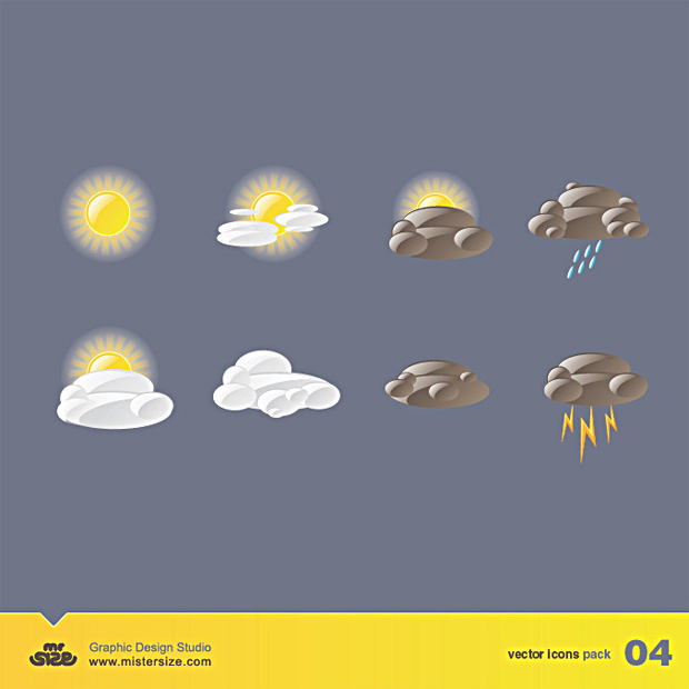 Weather Vector Icons Facebook