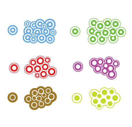 Trendy Vector Circles