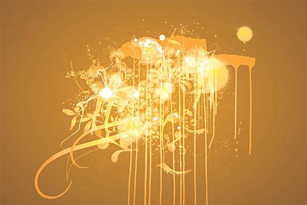 Grunge Vector Art Spill