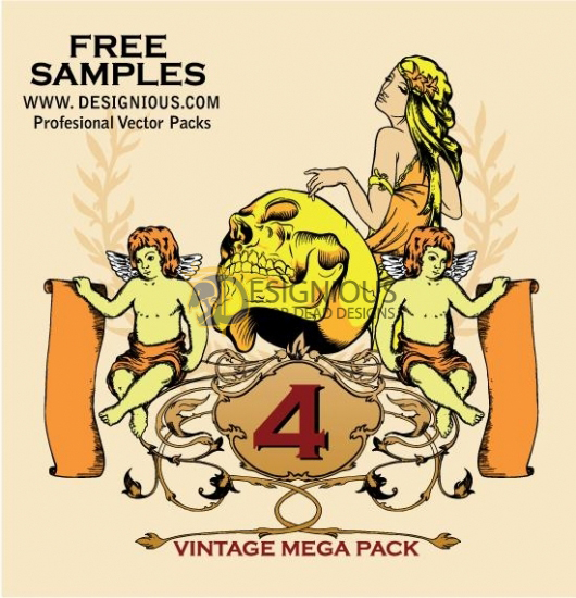 Vintage Vector Mega Pack 4