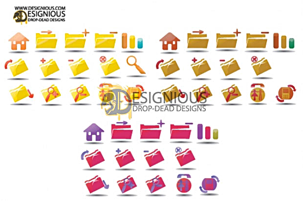 Desktop Vector Icon Set 1 Facebook
