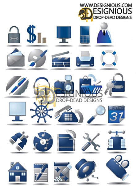 Office Vector Icon Set 3