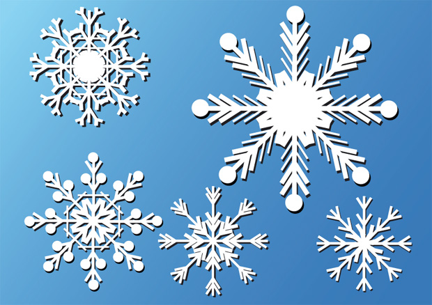 Vector Snow Flakes 2