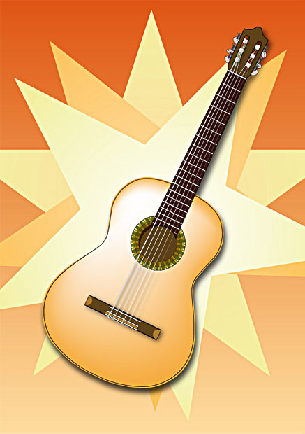 Spanish Guitar Vector Art Facebook