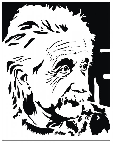 Albert Einstein Vector Potrait