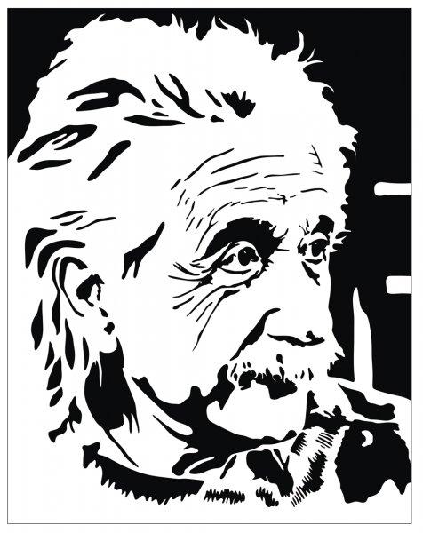 Albert Einstein Vector Potrait