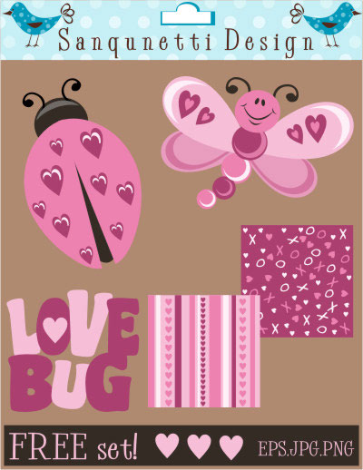 Love Bug Vector Freebie