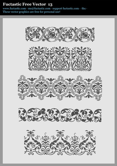 Classical Vector Floral Borders