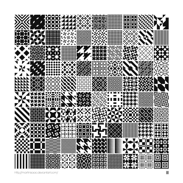 100 Free Monochrome Geometric Patterns