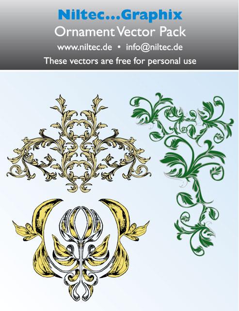 Niltec Floral Vector Ornament