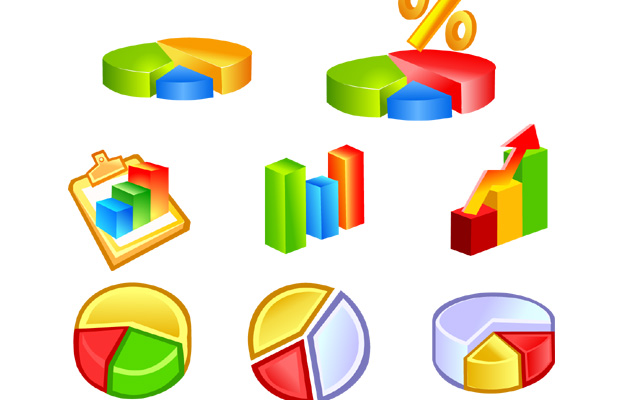 Graph Charts Diagram Vector Icons