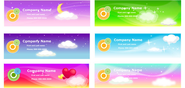 Name Cards Vector Template