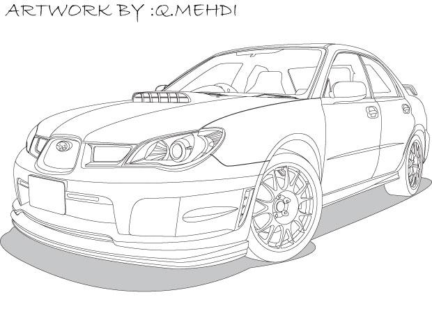 Subaru Imperaza Vector Car