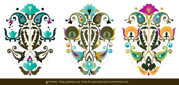 Folk Art Vector Pattern Art
