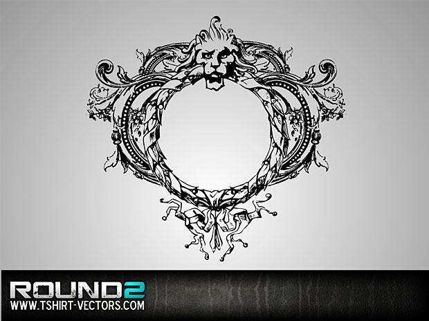 Lion Crest Vector Wreath