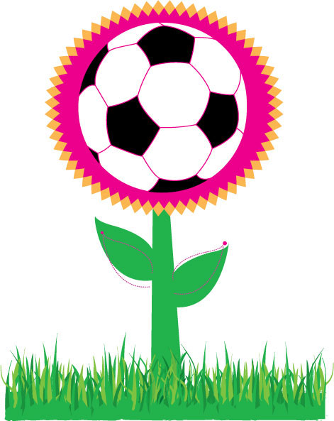 Vector Soccer Ball Flower
