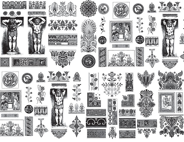 Greek Vector Ornament Designs