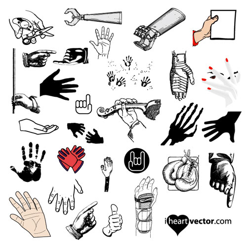Hand Vector Art Pack