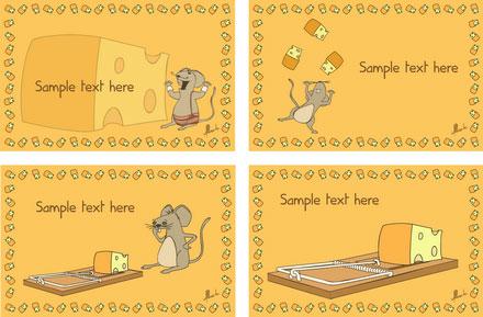 Cheesy Party Vector Invitation Card 2
