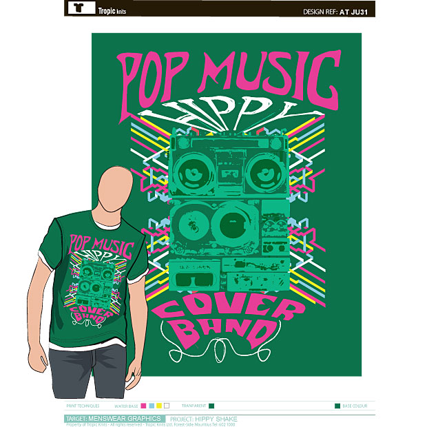 Hippi Shake Vector Tshirt Design 2