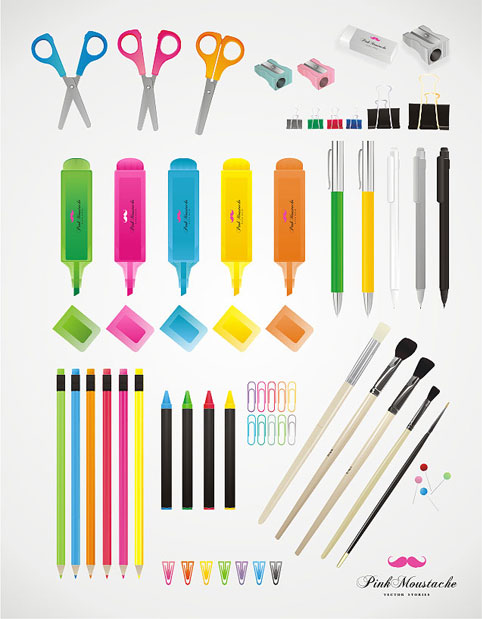 School Stationery Vector Pack