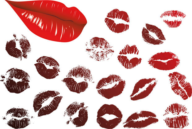 Kissing lipstick Vector