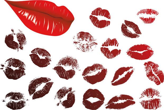 Kissing lipstick Vector