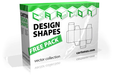 Carton Box Shape Vector Template
