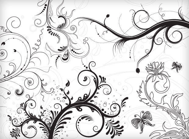 5 Beautiful Floral Vector Ornaments