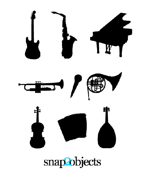 Silhouette Vector Music Instruments