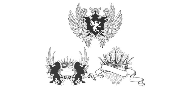 Heraldry Fashion Vector Tshirt Design