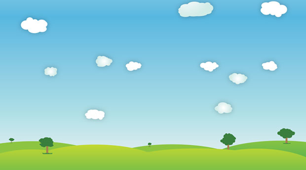 Bright Outdoor Vector Landscape