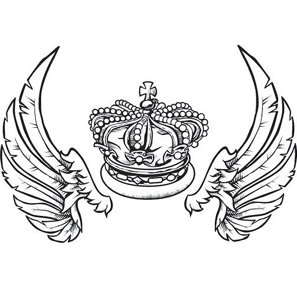 Fashion Vector Crown With Wings
