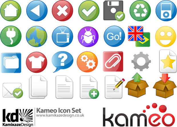 Kameo Vector Icon Set