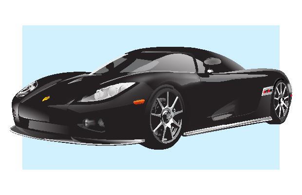Porsche Vector Car