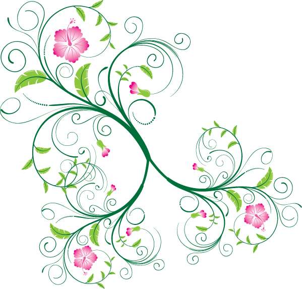 Swirl Floral Vector