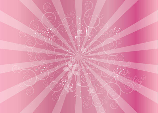 Swirly Pink Vector Background