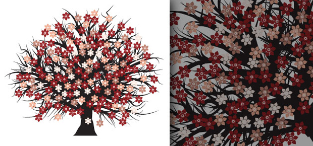Vector Blossomed Tree