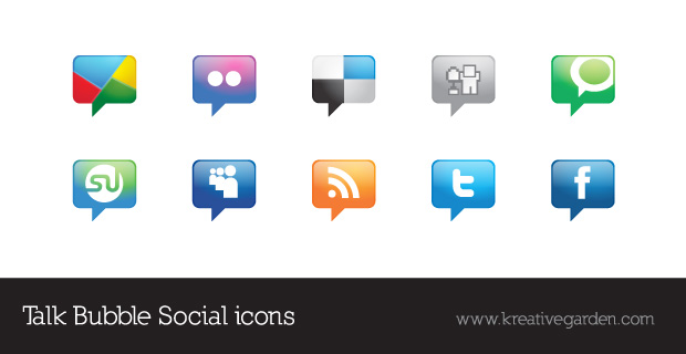 Talk Bubble – Vector Social Icons