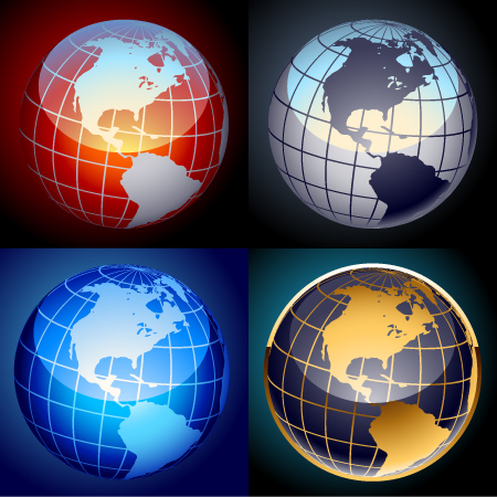 World Vector Globes