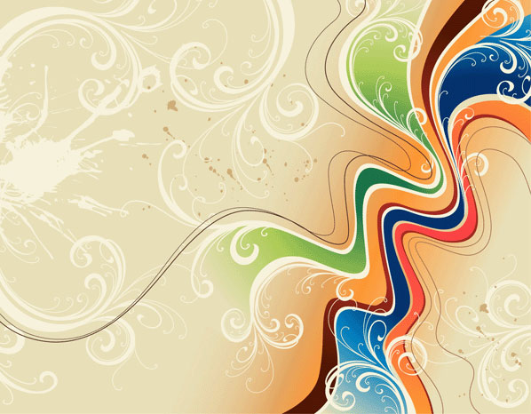 Colorful Swirl Vector Wallpaper