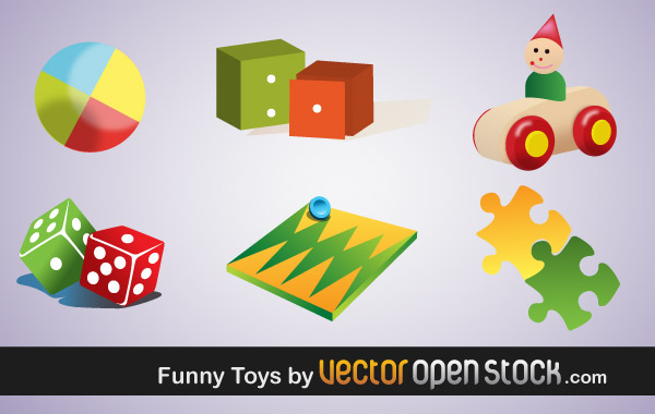 Vector Children Toys