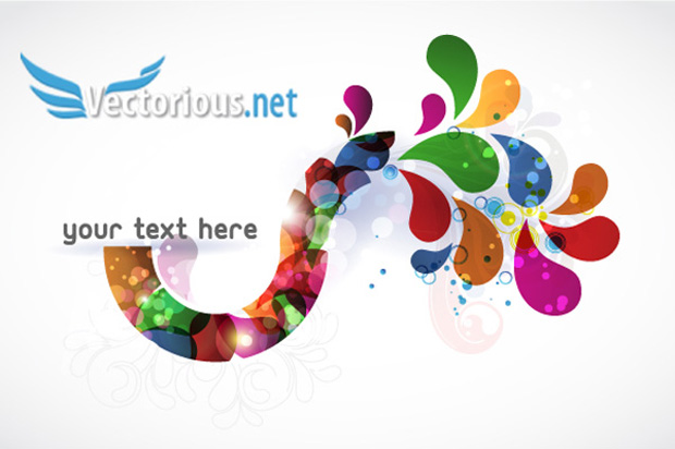 Abstract Splats Vector Illustration