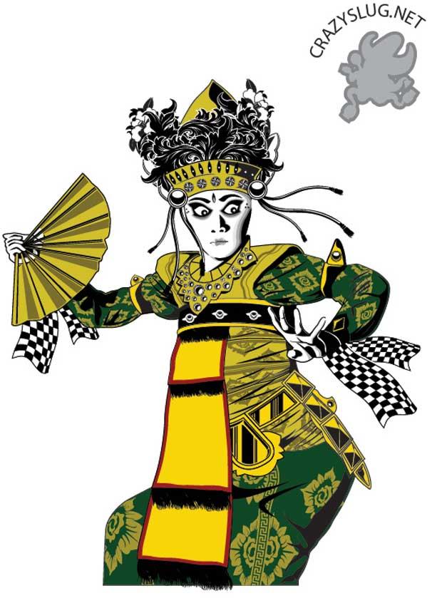 Balinese Dancer Vector Art