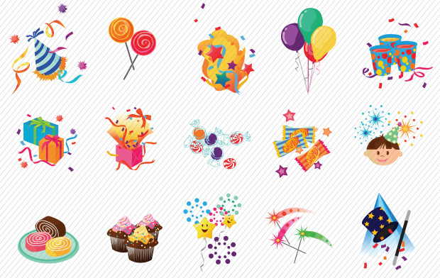 Kids Party Vector Art Pack