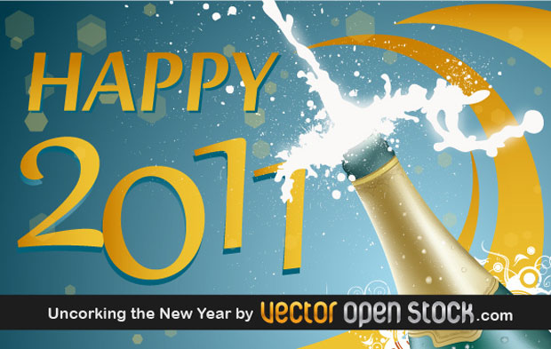 New Year 2011 Vector Art
