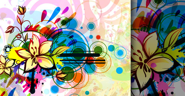 Abstract Floral Vector Art