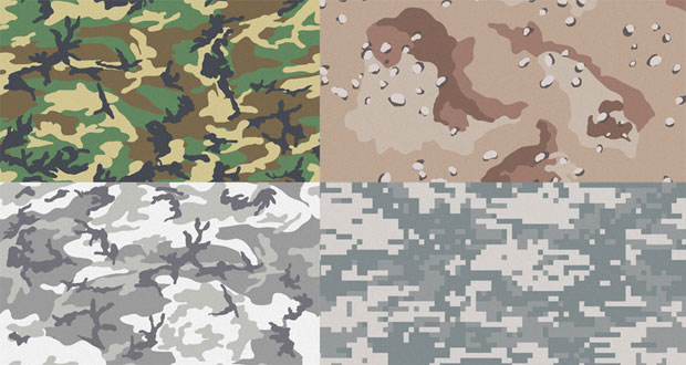 Camouflage Patterns Vectors